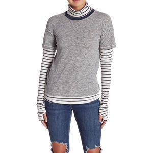 FREE PEOPLE Piper Twofer Long Sleeve Layered Top